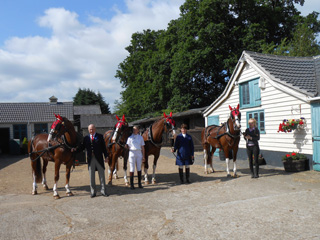 Leaving the stables to go to Ascot
